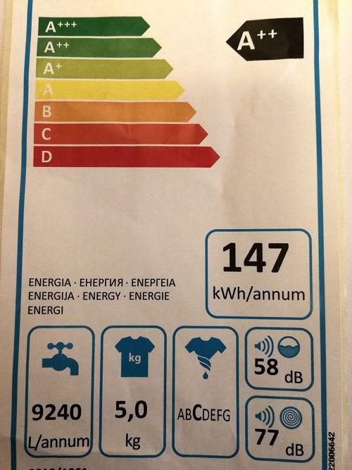 mirar la etiqueta energética para elegir una buena lavadora