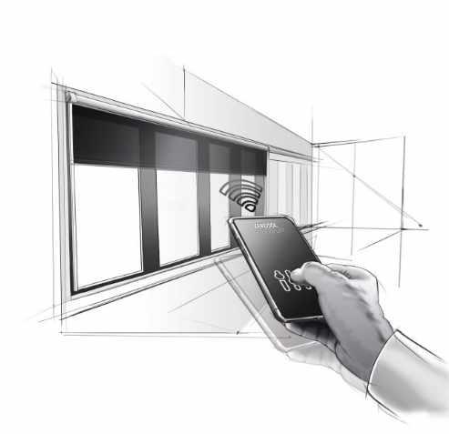 Sistema de motorización de cortinas FourC, para oficinas