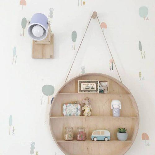 lámparas de madera con lata reciclada