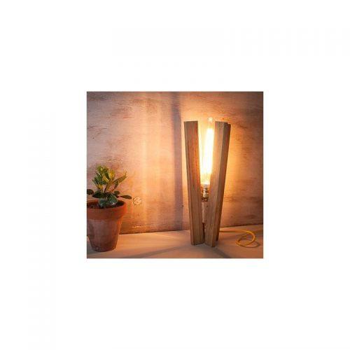 lámparas de madera, lámpara de sobremesa Aspas, de madera reciclada