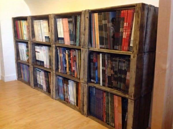 muebles con cajas de madera, ideas de reciclaje, reciclaje de cajas de madera