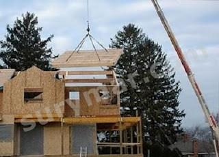 montaje casas de entramado madera