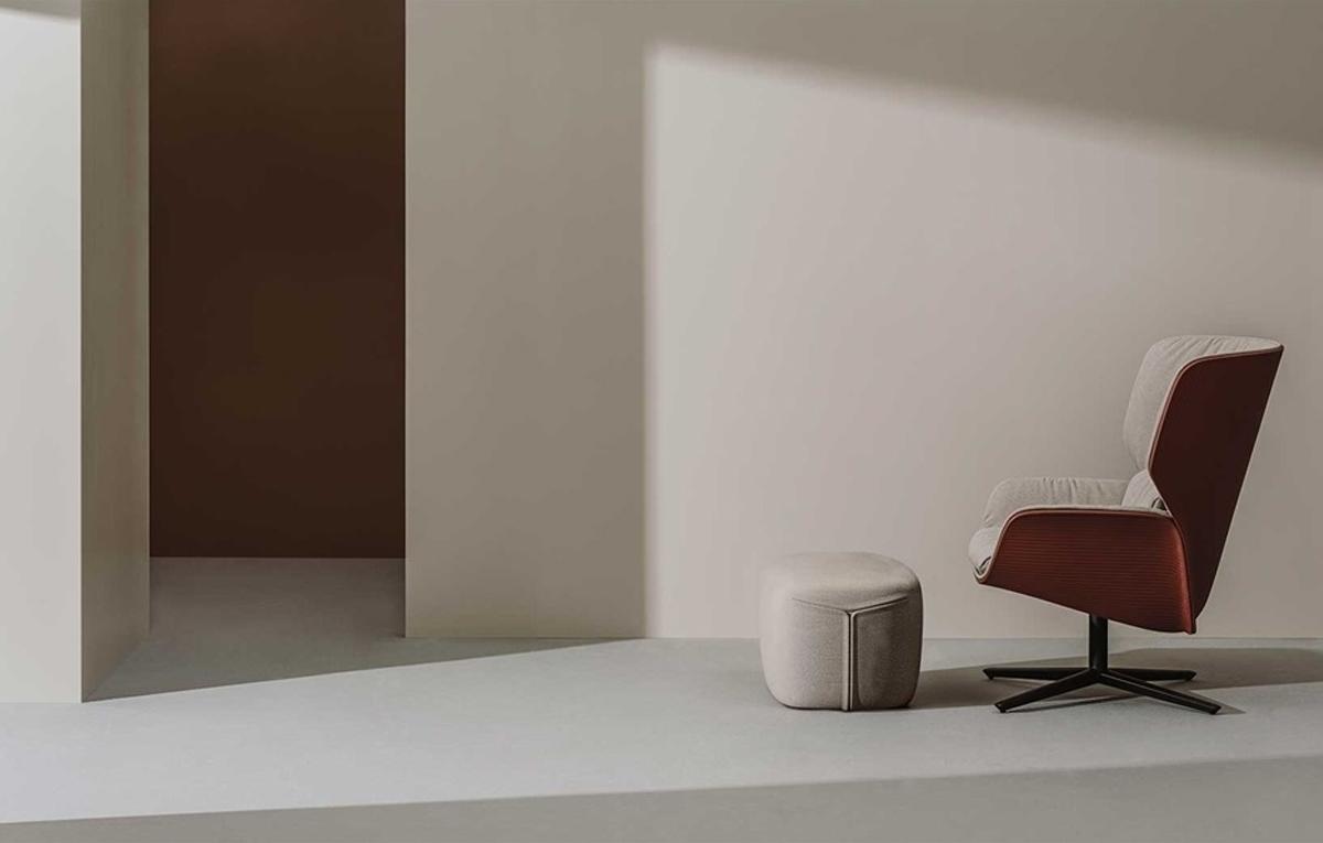 Butaca Nuez, diseño de Patricia Urquiola para Andreu World en Icaza Bilbao