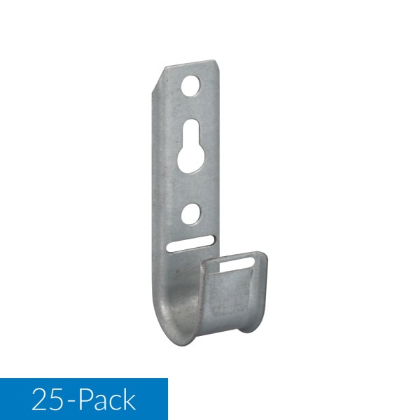 3 4 Inch Wall Mount J-Hook 25 Pack ICCMSJHK22