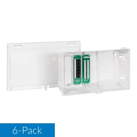 8 Inch Residential Wiring Enclosure Voice and Data 6-Pack ICRDSMMBW8