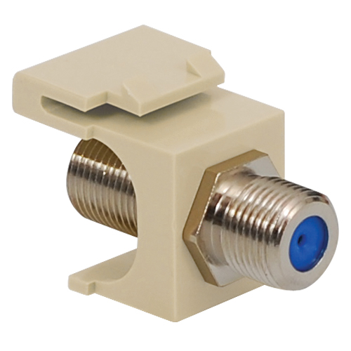 F-Type Modular Jack with 3 GHz Nickel Plated Connector in HD Style