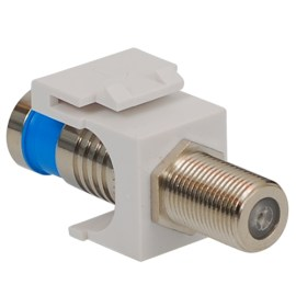 F-Type Compression Modular Jack with Nickel Plated Connector in HD Style