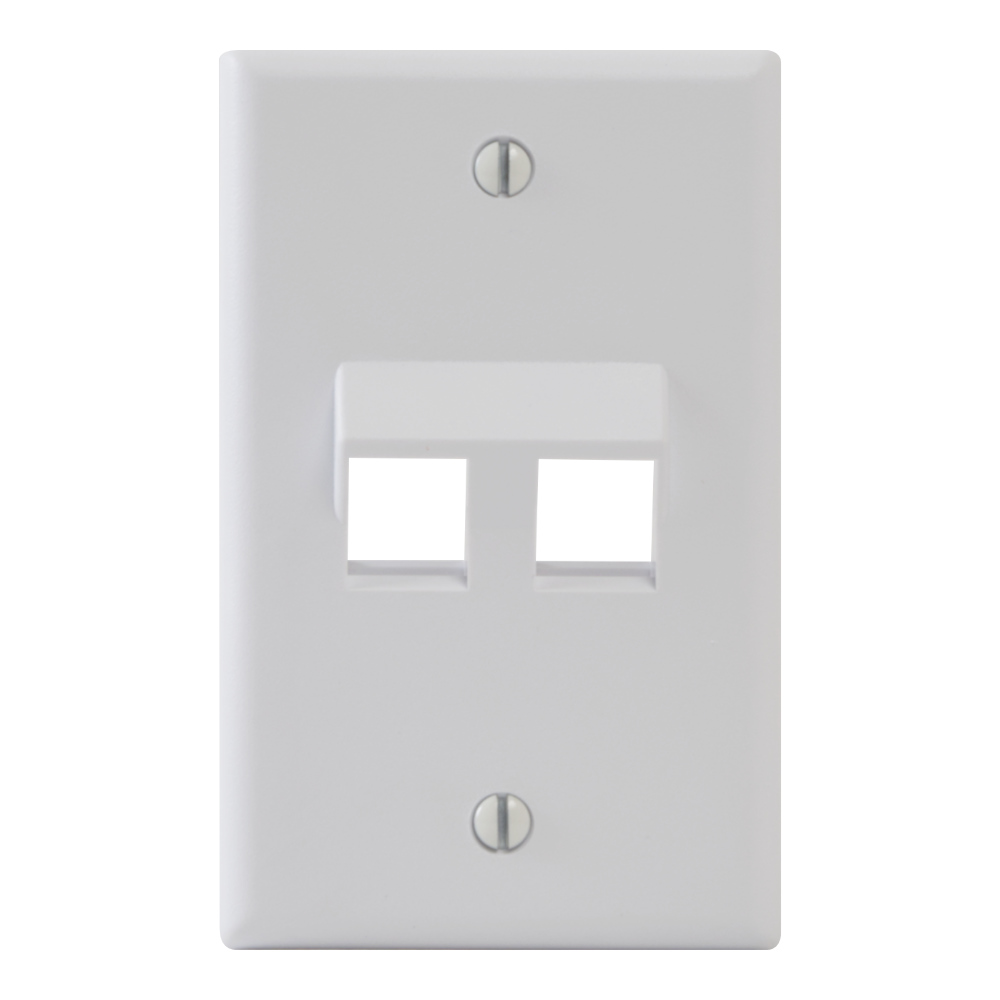 ICC Angled Faceplate with One Angled Port for EZ//HD Style in Single Gang White