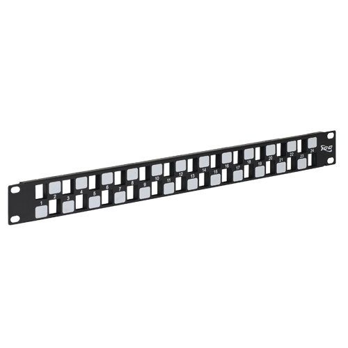 Blank Patch Panel with 24 Ports EZ Style in 1 RMS - IC107BE241