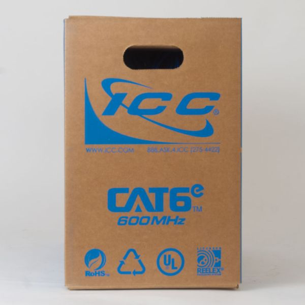 CAT6e Bulk Cable UTP Plenum Back ICCABP6EBL