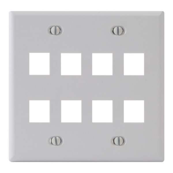 Classic Faceplate 8-Ports Double Gang IC107FD8WH