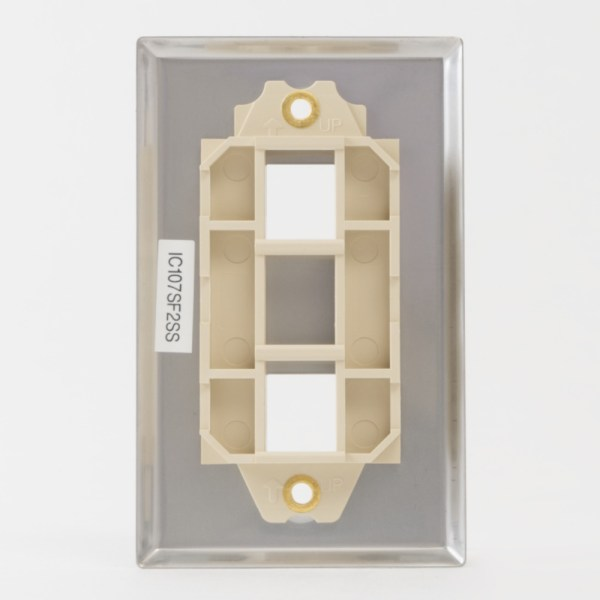 Classic Stainless Steel Faceplate 2 Port Back IC107SF2SS