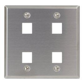 Classic Stainless Steel Faceplate 4 Ports Double Gang IC107DF4SS