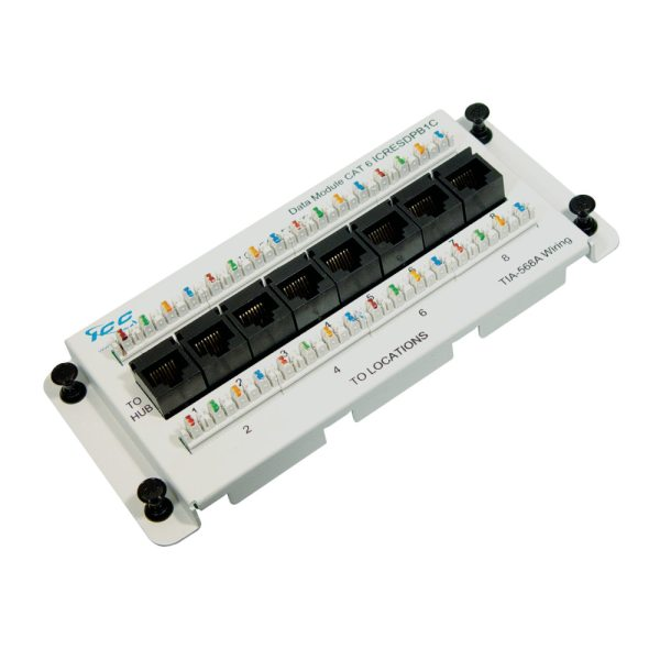 Residential Data Module, CAT 6 with 8 Ports ICRESDPB1C
