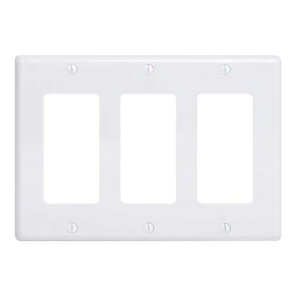 Decorex Faceplate 3 Insert Triple Gang IC107DFTWH