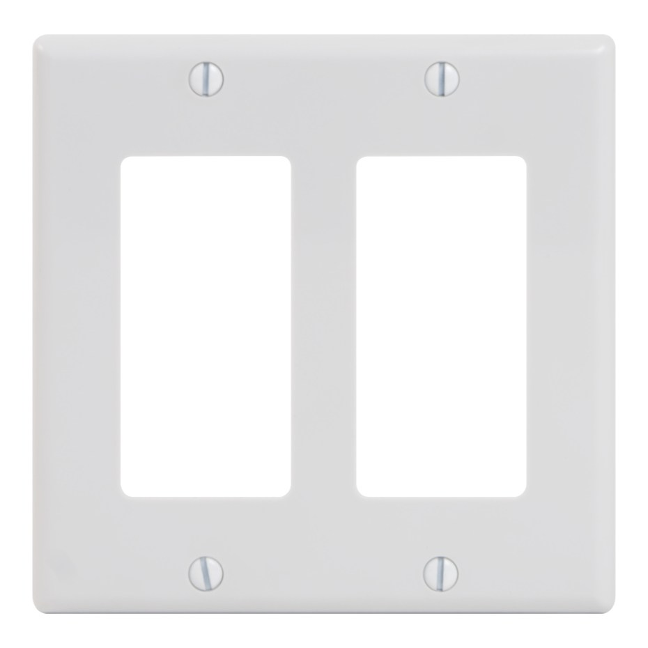 Decorex Faceplate 2 Insert Double Gang IC107DFDWH