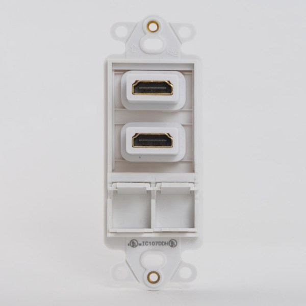 Decorex Insert 2 HDMI 2 Ports Back IC107DDHWH