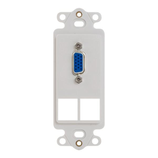 Decorex Insert VGA Connector 2 Ports IC107DR2WH