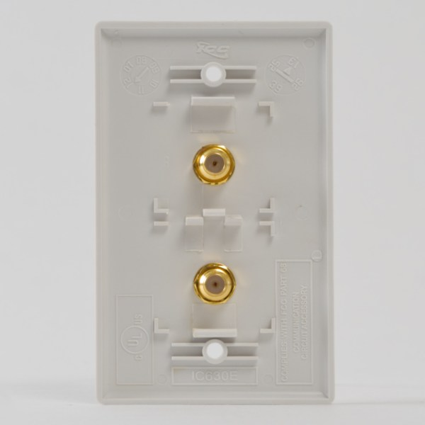 Faceplate 2 F-Type White Back IC630EGGWH
