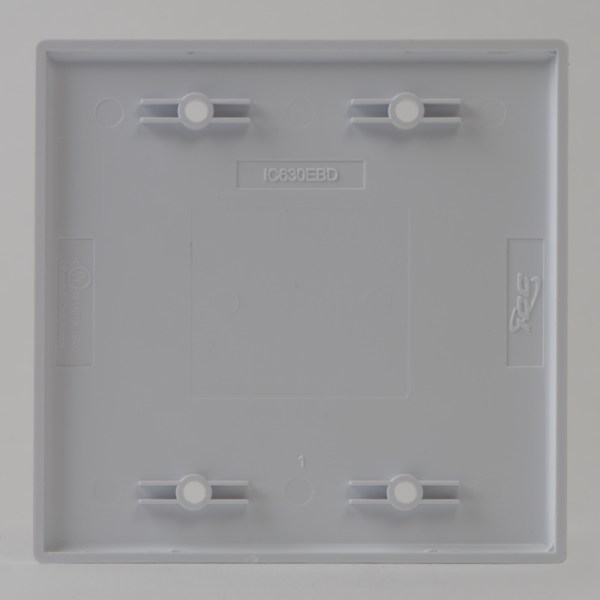 Faceplate Blank Double Gang Back IC630EBDWH