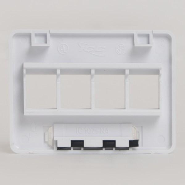 Modular Furniture Faceplate 4 Port NEMA Back IC107FN4WH