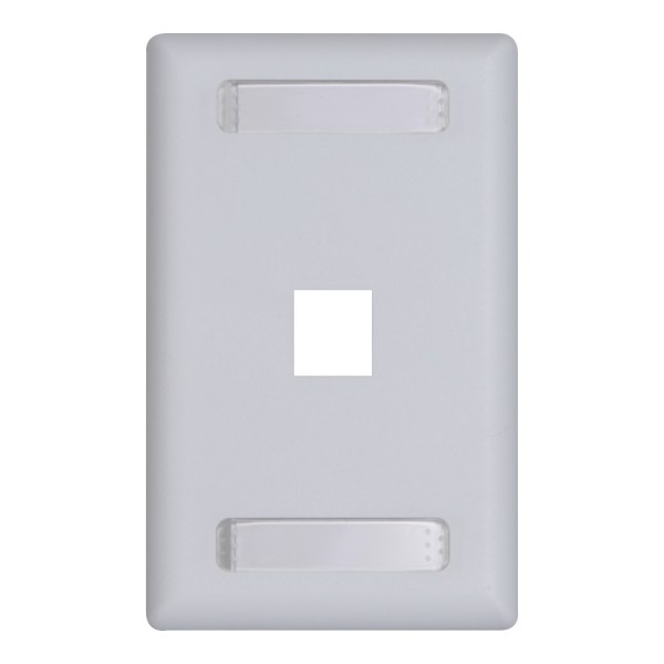 Station ID Faceplate 1 Ports Single Gang IC107S01WH