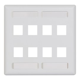 Station ID Faceplate 8 Ports Double Gang IC107SD8WH