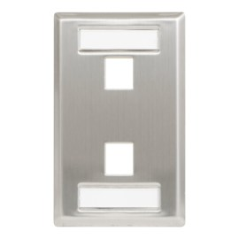 Station ID Steel Faceplate 2 port Single IC107S02SS