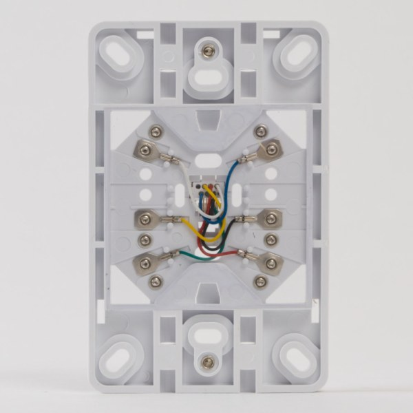 Telephone Faceplate 6P6C Back IC630DB6WH