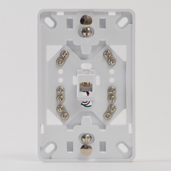 Telephone Faceplate 6P6C Front IC630DB6WH