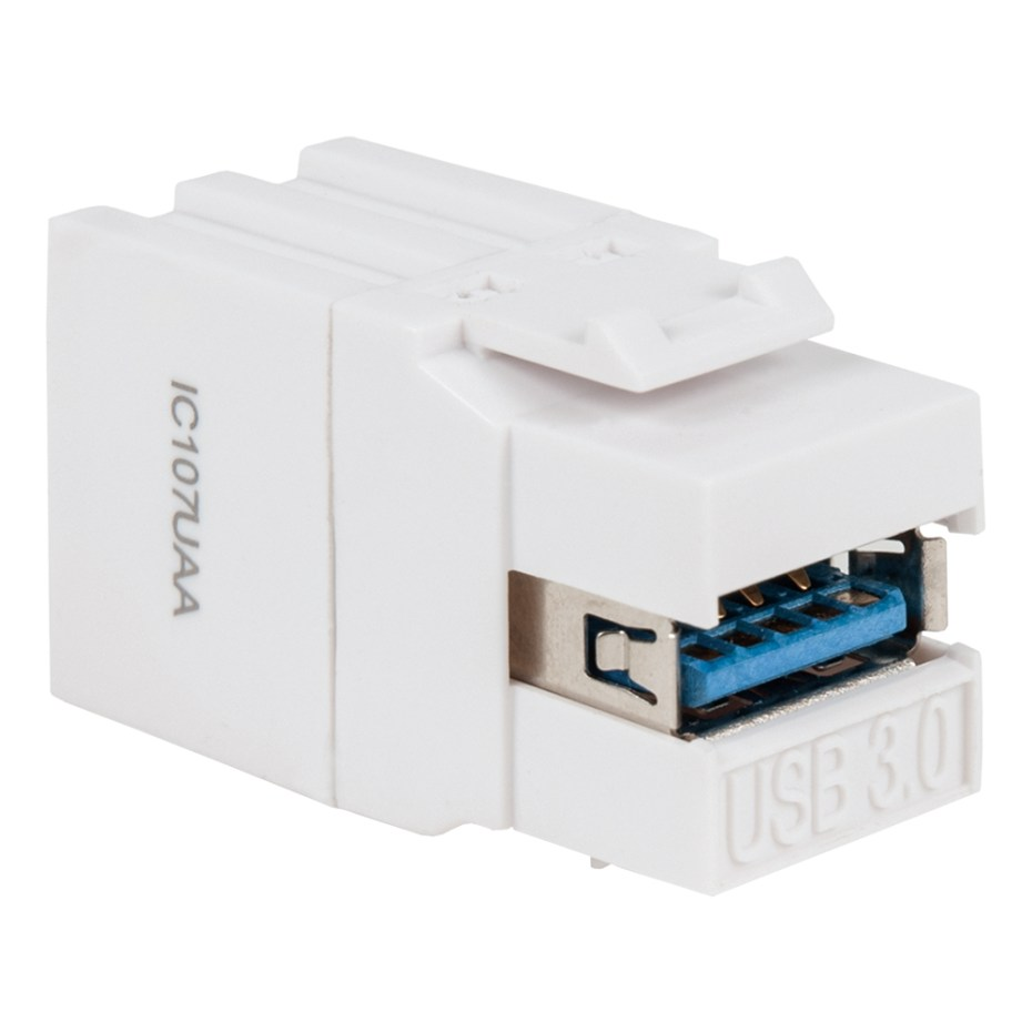 USB 3.0 Modular Coupler in White for HD Style