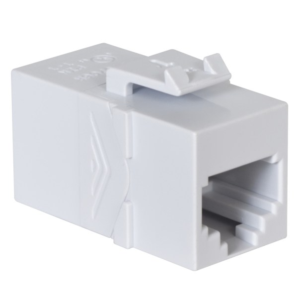 Voice RJ45 Keystone Coupler Pin 1-1 HD Style IC107C6RWH