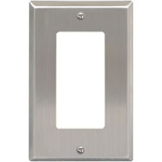 Decorex Stainless Steel Faceplate with 1 Insert Space in Single Gang