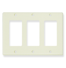 Decorex Faceplate with 3 Insert Spaces in Triple Gang