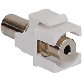 3.5 mm Stereo Audio Coupler Module in White