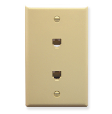 Wall Plate Voice with 1 Gang in 6P6C