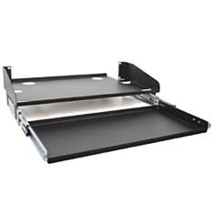 "10"" Deep LCD Monitor Shelf Sliding Keyboard Tray with 3 RMS"
