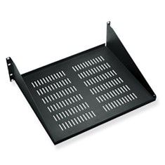 "15"" Deep Vented Single Sided Rack Shelf with 3 RMS"