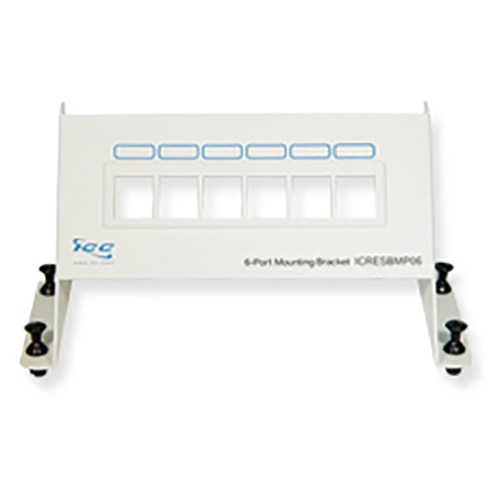 Blank Mounting Panel with 6 Ports