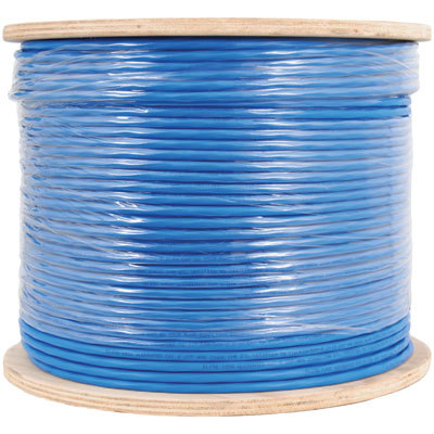 650Mhz CAT 6A Bulk Cable with FTP and CMP Blue Copper Premise Cable