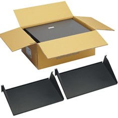 "10"" Deep Single Sided Rack Shelf with 2 RMS in 2 Pack"
