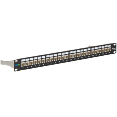 CAT 6A FTP Shielded Patch Panel with 24 Ports and 1 RMS