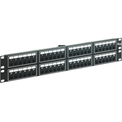 Voice 8P2C Patch Panel with Female Telco in 48 Ports and 2 RMS