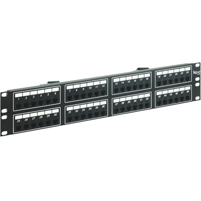 Voice 8P4C Patch Panel with Female Telco in 48 Ports and 2 RMS