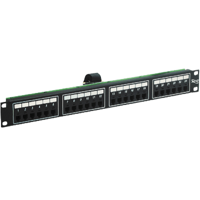 Voice 6p2c Patch Panel with Female Telco in 24 Ports and 1 RMS