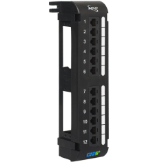 CAT 5e Vertical Patch Panel with 12 Ports