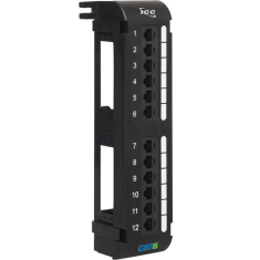CAT 6 Vertical Patch Panel with 12 Ports