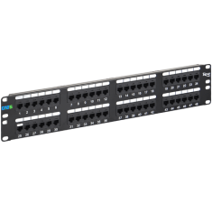 CAT 6 Patch Panel with 48 Ports and 2 RMS