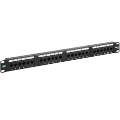 Voice USOC Patch Panel with 24 Ports and 1 RMS