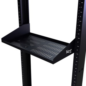 "10"" Deep Single Sided Rack Shelf Vented with 2 RMS"